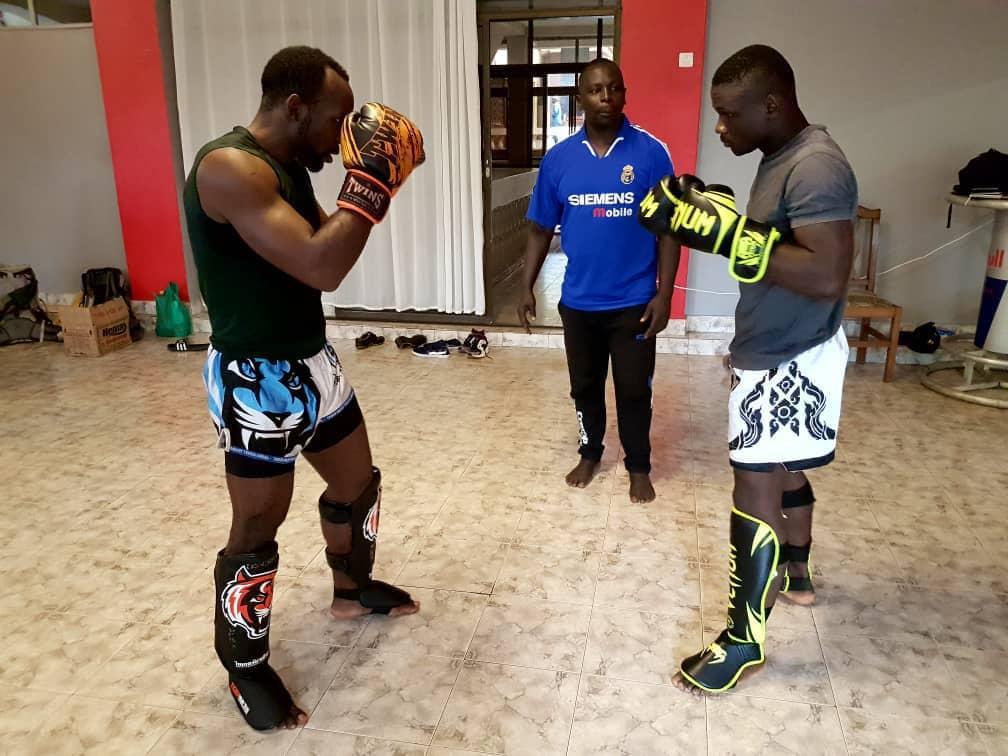 Shakey (R) with training partner, Alex Matsiko