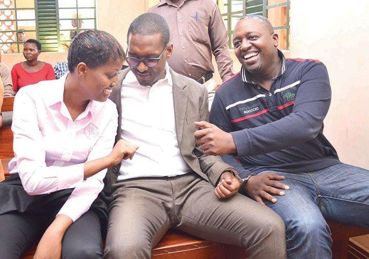 Cynthia Munwangari, Mathew Kanyamunyu ne Joseph Kanyamunyu mu 2016