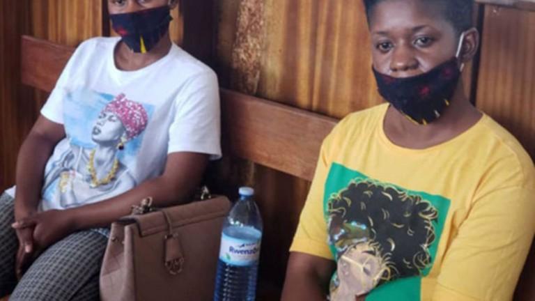 Tracy Nangendo ne Donah Werukwendera mu kkooti ya Buganda Road gye buvuddeko