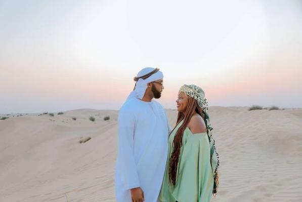 Ssebunya and his wife Rema in Dubai
